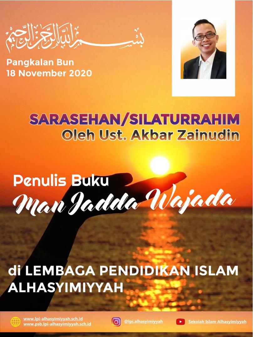 Sarasehan/Silaturrahim dengan Penulis Buku Man Jadda Wajada